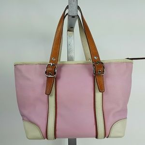 Coach A2J-7741 Fabric White/Pink Mini Shop…